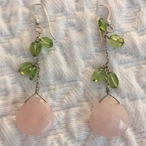 🌸Rose quartz earrings